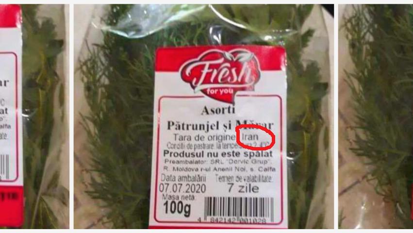 Pătrunjel și mărar din Iran, pe rafturile magazinelor din Moldova?