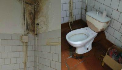 Pereți cu mucegai și robinete defecte, fără apă, la spitalul din Bălți. Condiții insalubre, reclamate de către un pacient internat cu Coronavirus