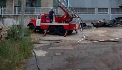 Inspectoratul de Poliție Rezina a luat foc în această dimineață