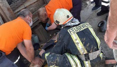 Un bărbat din Strășeni, scos de către salvatori dintr-o fântână adâncă de 13 metri
