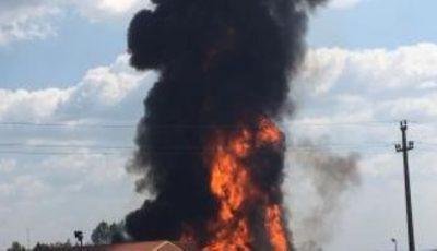 Incendiu la Bălți. Arde depozitul de pe teritoriul fabricii de blănuri