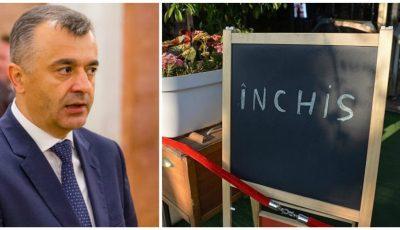 Ion Chicu: Ar putea fi reintroduse restricții în domeniul HoReCa