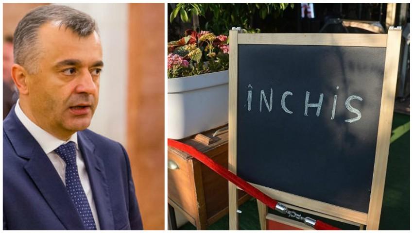 Foto: Ion Chicu: Ar putea fi reintroduse restricții în domeniul HoReCa
