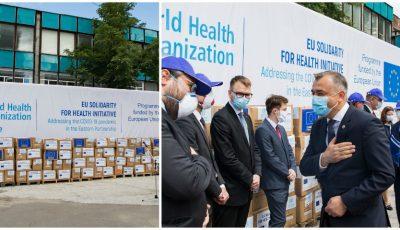 La Chișinău, a ajuns primul lot din asistența de 30,5 milioane de euro, oferită Moldovei de către Uniunea Europeană și OMS