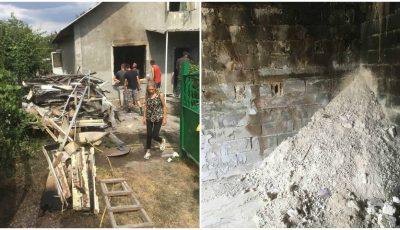 Incendiu la Drochia. O familie cu 9 copii a rămas pe drumuri