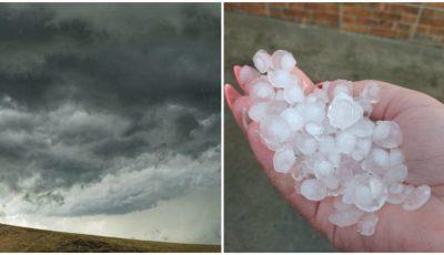 S-a rupt cerul în mai multe localități din țară. La Lipcani a plouat cu grindină