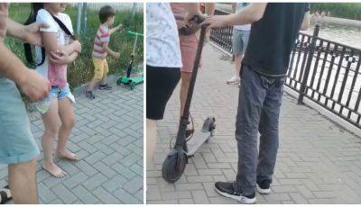 """Un copil în cărucior, spulberat de către un bărbat pe trotinetă electrică, în parcul ,,Valea Morilor"""""""