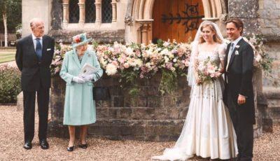 Nuntă regală în pandemie: prinţesa Beatrice a purtat rochia Reginei