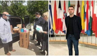 Un tânăr moldovean stabilit la Londra a trimis echipamente medicale pentru medicii din țara noastră
