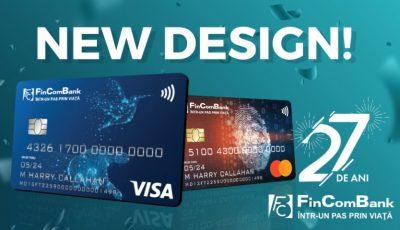 La celebrarea a 27 de ani, FinComBank anunţă lansarea noului design al cardurilor – cardurile cu soluţii inovative