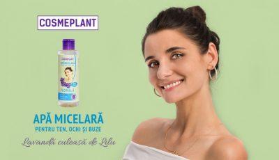 Apa micelară Cosmeplant cu extract de levănțică face magie pentru tenul tău!