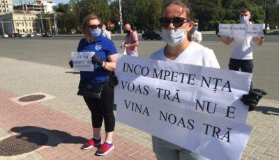Protest în centrul Chișinăului. Ce îi nemulțumește pe organizatori?