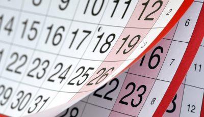 Ziua de 28 august – zi de odihnă, 22 august – zi de lucru