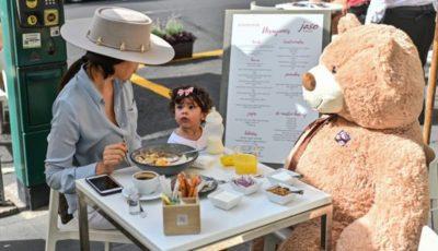 O cafenea foloseşte ursuleţi de pluş pentru menţinerea distanţării sociale