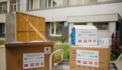 UNICEF a donat echipamente de protecție pentru lucrătorii din prima linie