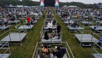 Metoda prin care spectatorii au păstrat distanțarea fizică la primul concert de acest fel din Marea Britanie