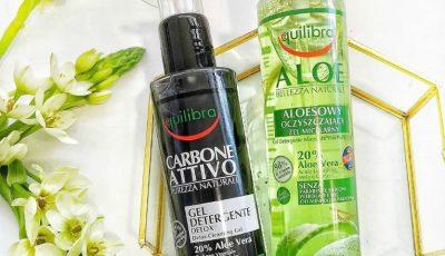 Din dragoste pentru ten: Gelurile de curățare Equilibra cu Aloe Vera și Cărbune Activ