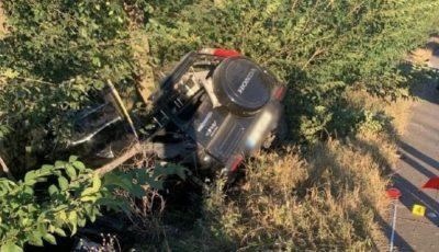 Accident grav la Bulboaca: Un polițist de 21 de ani a decedat pe loc
