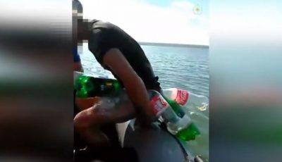 S-a rătăcit în mijlocul lacului Stânca – Costești. Un tânăr a fost salvat după 6 ore petrecute în apă