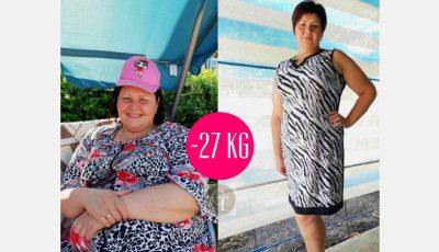Transformare radicală! Carolina a reușit să slăbească 27 de kg, online, cu ajutorul Centrului Online de Nutriție și Sport