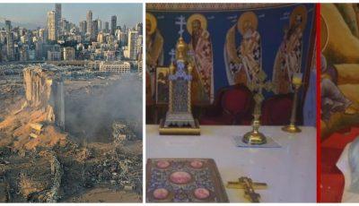 Altarul unei biserici ortodoxe din Beirut, neatins de explozie, dă speranțe credincioșilor