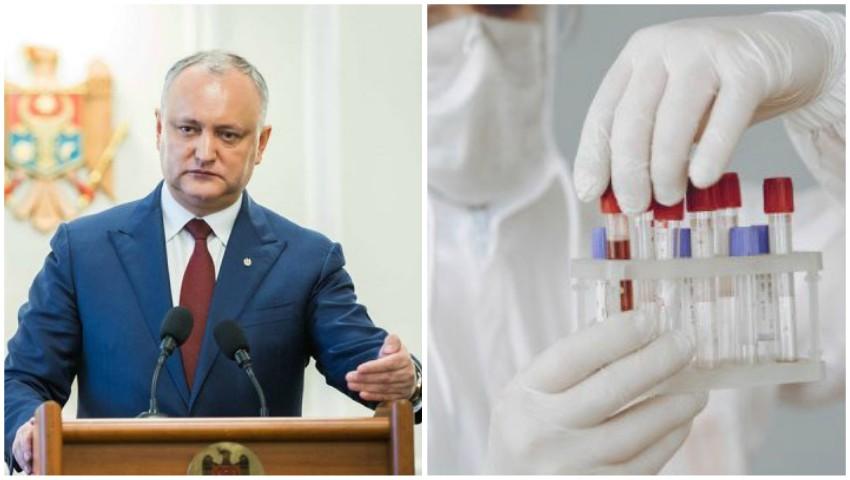 Foto: Igor Dodon: În Republica Moldova, avem cel puțin 4 cazuri de îmbolnăvire repetată