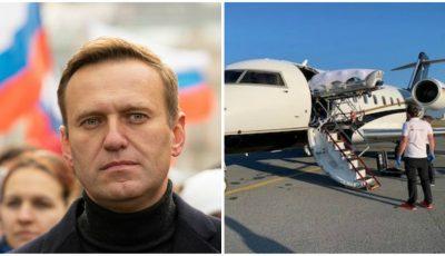 Aleksei Navalnîi a fost transferat în Germania, după 12 ore în care medicii au refuzat externarea