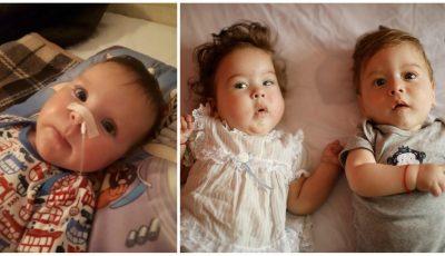 Ajutor pentru trei copii care suferă de amiotrofie spinală. Micuții au nevoie de tratamentul de 2,1 milioane de dolari care le va salva viața