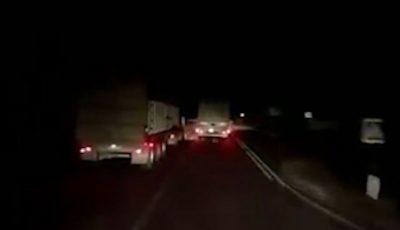 Video înfiorător! Momentul accidentului cu cele trei camioane din Soroca, surprins de o cameră de bord