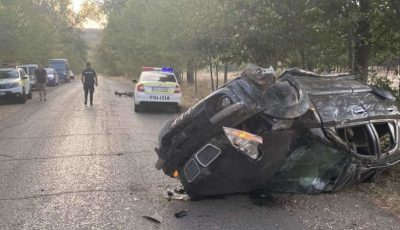Un mort și doi răniți la Cahul. Șoferul fugea de polițiști