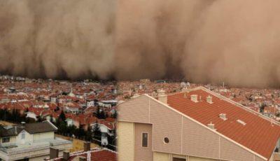 Video! Scene apocaliptice. O furtună de nisip a înghiţit capitala Turciei