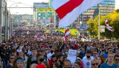 A șasea duminică de proteste în Belarus. Mii de oameni au ieșit în stradă