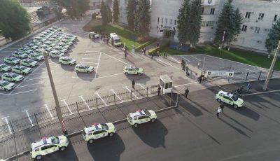 Poliția Națională a primit în dotare 52 de automobile moderne, în valoare de 20 de milioane de lei
