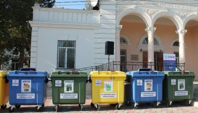 Chișinăuienii vor avea containere menajere pentru separarea deșeurilor