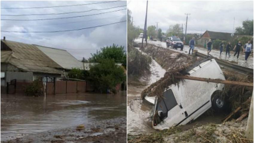 Inundații la Comrat. Zeci de gospodării distruse