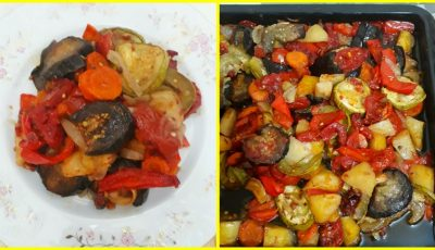 Legume aromate la cuptor. Rețetă grecească