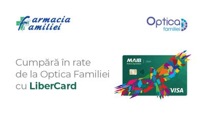 Cumpără în rate de la Optica Familiei cu LiberCard!