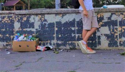 Amenzi de până la 1.800 de lei pentru chișinăuienii care aruncă gunoiul la întâmplare în zonele publice