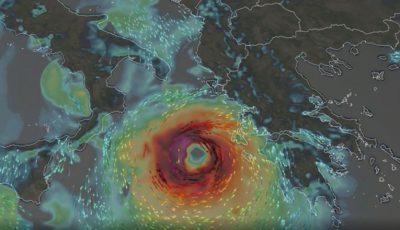 Un uragan mare se formează în Marea Mediterană și va lovi Grecia