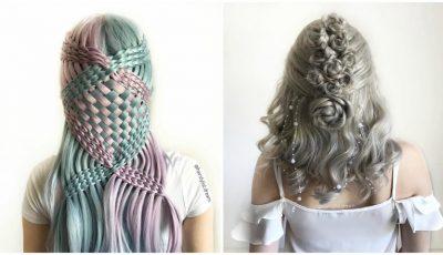 O tânără cucerește Instagramul transformând părul în opere de artă. Vezi ce coafuri uimitoare a învățat să facă singură