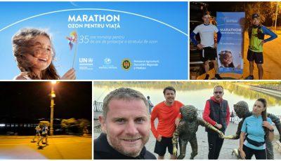 Maraton Ozon pentru viață – mai mulți sportivi amatori au alergat 35 de ore pentru a sensibiliza opinia publică asupra problemei protecției stratului de ozon