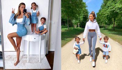 E cea mai stilată mămică de gemeni. Cum se îmbracă atunci când iese la plimbare cu copiii?