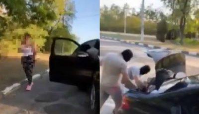 O tânără, răpită de 4 indivizi înarmați. Scenă de groază, filmată la Bălți