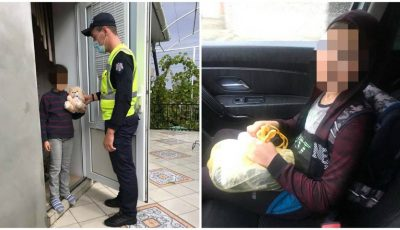 Un copil a fost ajutat de polițiști să ajungă acasă! Se întorcea prin ploaie de la școala situată la 2 km