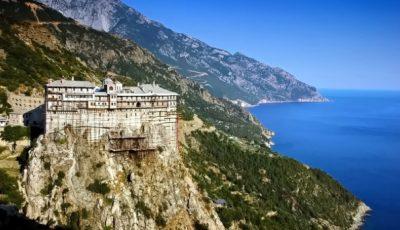 O mănăstire de pe muntele Athos, plasată în carantină. 8 călugări s-au îmbolnăvit de Covid-19