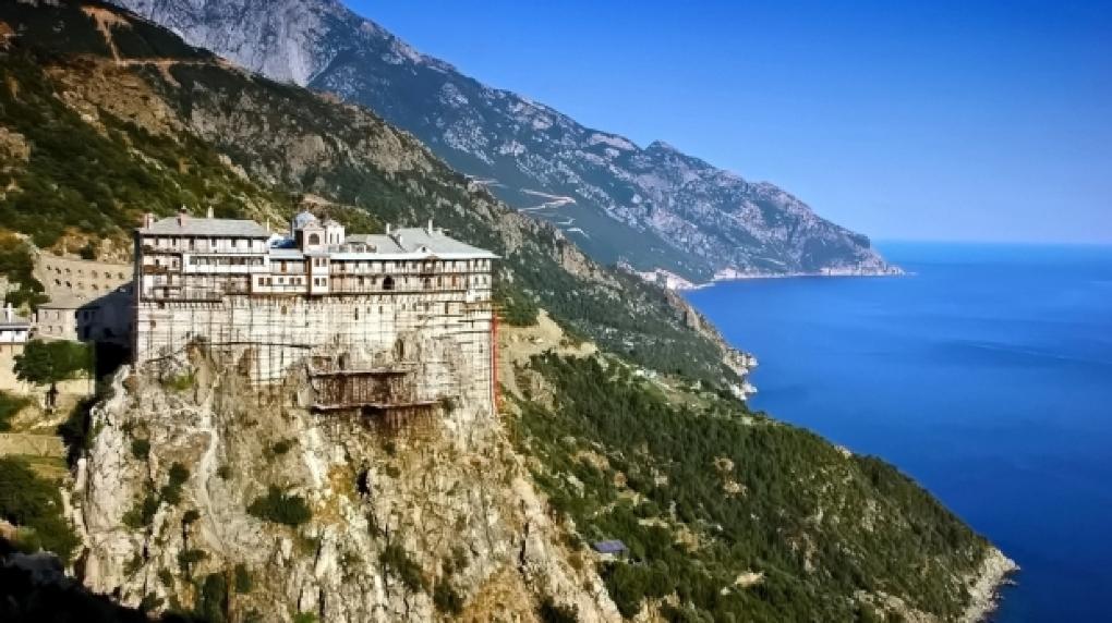 Foto: O mănăstire de pe muntele Athos, plasată în carantină. 8 călugări s-au îmbolnăvit de Covid-19