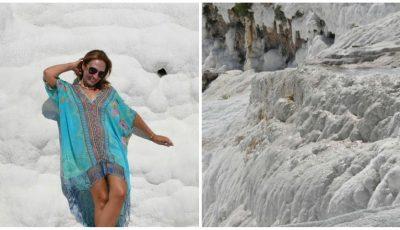 """Cascadele ,,înghețate"""" din Turcia. O locație deosebită care atrage anual mii de turiști"""