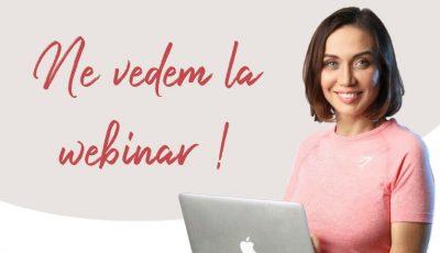 Galina Tomaș: Ne vedem astăzi la webinar, la ora 20:00!