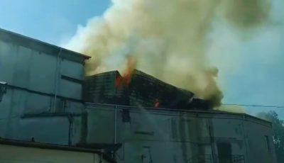 Incendiul de la Filarmonică: momentul sfâșietor în care se prăbușește acoperișul instituției