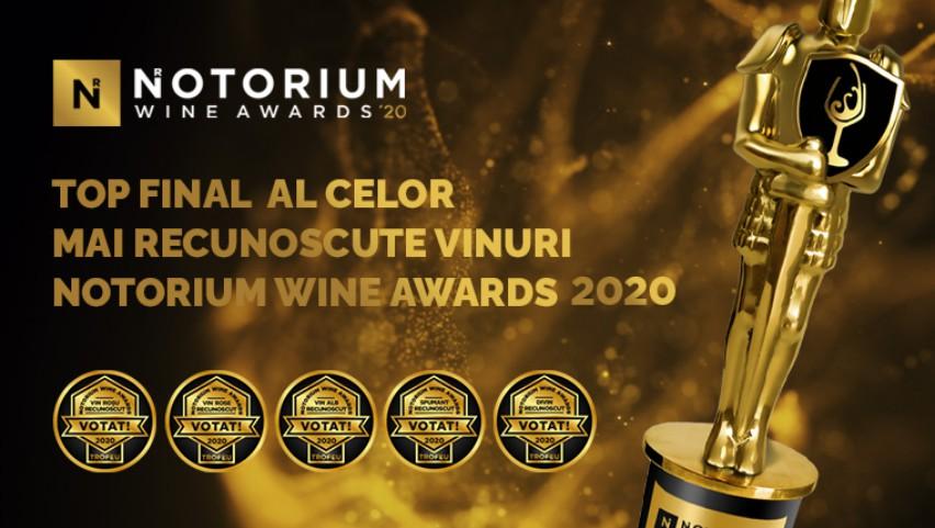"""Vezi cine sunt învingătorii Concursului Vinurilor Recunoscute ,,Notorium Wine Awards""""!"""